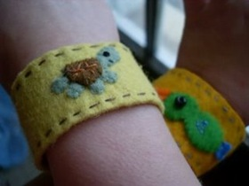 Personalized Felt Cuffs