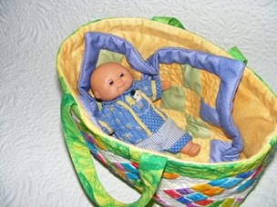 Quilted Doll Basket Tutorial
