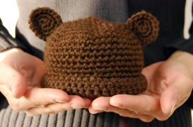 Crochet Baby Hat Bear Ears Pattern : Crochet Bear Hat - One Crafty Place