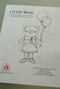 Little Bear Embroidery Pattern