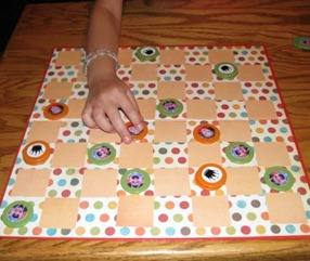 Homemade Personalized Checkers Set