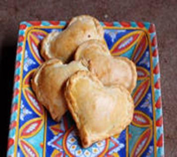 lunch heart empanadas