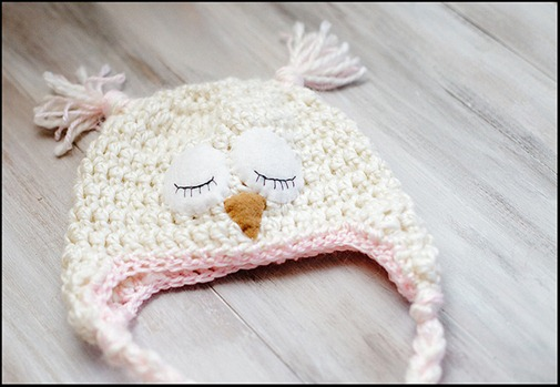 Crochet Pattern For Newborn Owl Hat : Crochet Owl Hat Pattern - One Crafty Place