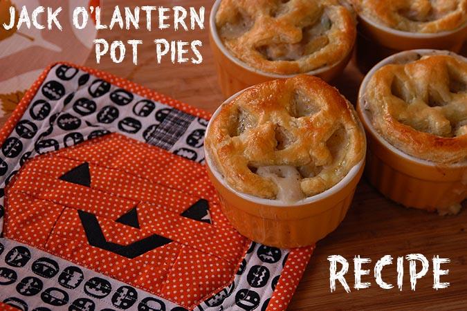 Jack O' Lantern Pot Pies from My Paper Crane