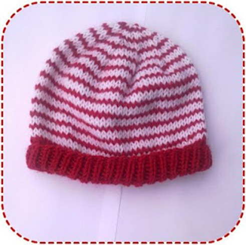 simple striped baby hat ala sascha