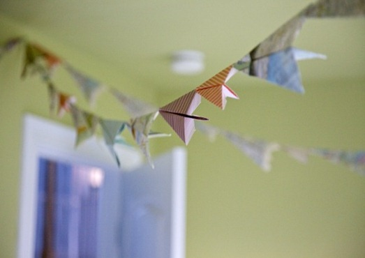 paper airplane bunting