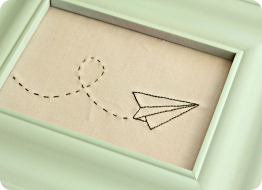 paper airplane embroidery little lovelies